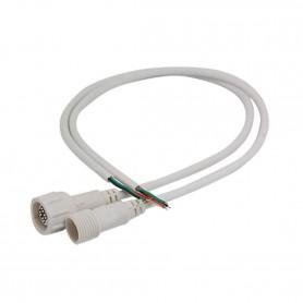 Conector IP65 para exterior RGB con puntas prestañeadas.