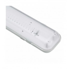 Pantalla estanca fabricada en ABS y PC para 1 tubo Led T8 60cm IP65 conexion 1 extremo