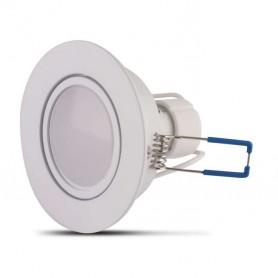 Aro basculante REDONDO BLANCO con lampara GU10 5w LUZ BLANCA