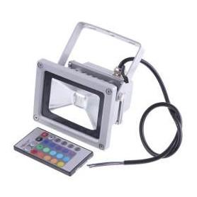 Foco Reflector Led 10w RGB con Mando a distancia