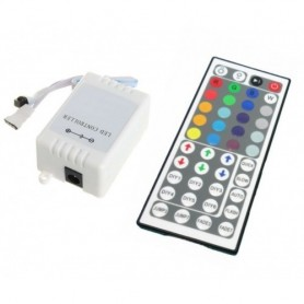 Controlador RGB con mando a distancia 44 teclas y controlador de intensidad