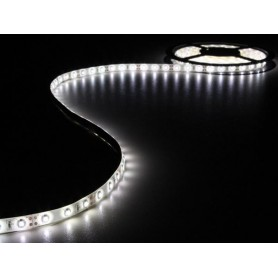 Tira de led flexible de 5 metros SMD 3528 60 led / m Blanco Frío 6000 / 6500 K protección IP65