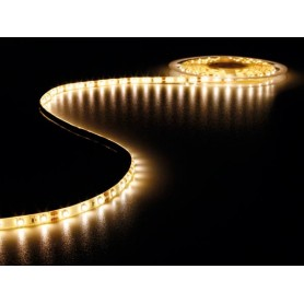 Tira de led flexible de 5 metros SMD 5050 60 led / m Blanco calido  2700 / 3200K protección IP65