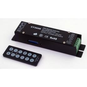 Controlador Led RGB con mando a distancia I.R. y DMX