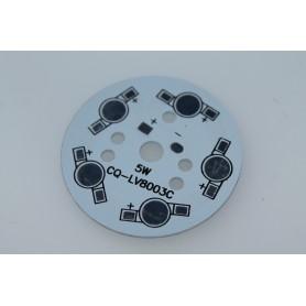 PCB de aluminio para 5 led de 49mm
