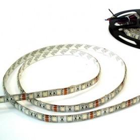 1 metro de tira de led tipo 5050 60 led / m alta luminosidad blanco frio / blanco calido para interior