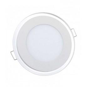 Downlight ultrafino 7w para empotrar acabado en cristal