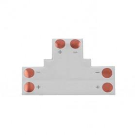"""Unión / conector tipo """"T"""" esquina para tiras LED Monocromo 3528 sin necesidad de soldar."""
