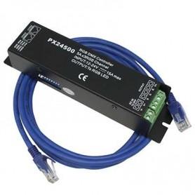 Controlador DMX512 PX24500 5A x 3 canales RGB 12 / 24v