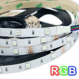 Tira de led  a 24 V  flexible de 5 metros SMD 5050 60 led / m RGB protección IP65