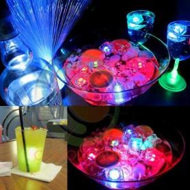 Cubito de hielo LED luminosos RGB para fiestas y eventos