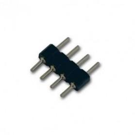 Unión / conector Macho a Macho para tiras LED RGB (4 Pin)