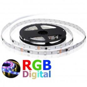 Tira de led digital 5 metros WS2811 60 led/m 60 pixel sin protección al agua