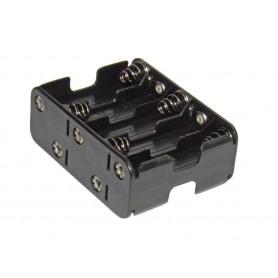 Portapilas 10 x AA para tiras de led de 12v