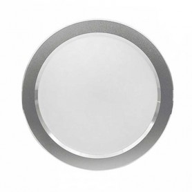 Downlight plata redondo 25w led 2000 lumenes