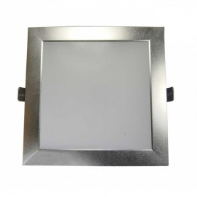 Downlight plata cuadrado 25w led 2000 lumenes