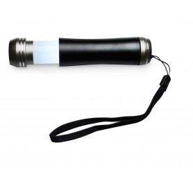 Linterna plata cromada alto brillo con zoom