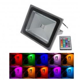 Foco Reflector Led 50w RGB con Mando a distancia