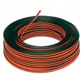 Cable 2 hilos rojo y negro 1,50mm