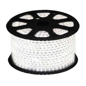 Tira de led 220VAC 5050 60 L/m color Blanco Frio / Blanco Calido IP65 por metro