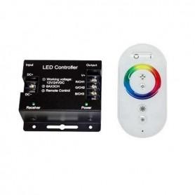 Controlador táctil RGB RF 6 teclas 12v / 24v mando blanco