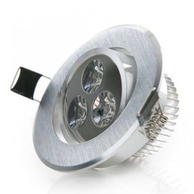 Foco empotrable basculante led techo interior 3w 270lm 220v