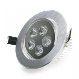 Foco empotrable basculante led techo interior 5w 450lm 220v
