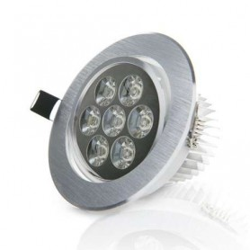 Foco empotrable basculante led techo interior 7w 630lm 220v