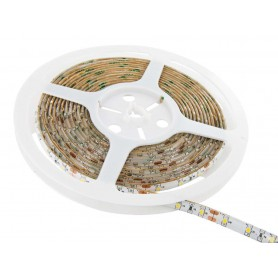Tira de led flexible de 5 metros SMD 3528 60 led / m Blanco calido  2700 / 3200K protección IP65