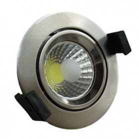 Downlight COB basculante Serie O 8w color inoxidable