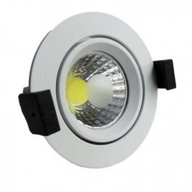 Downlight COB basculante Serie O 8w color blanco