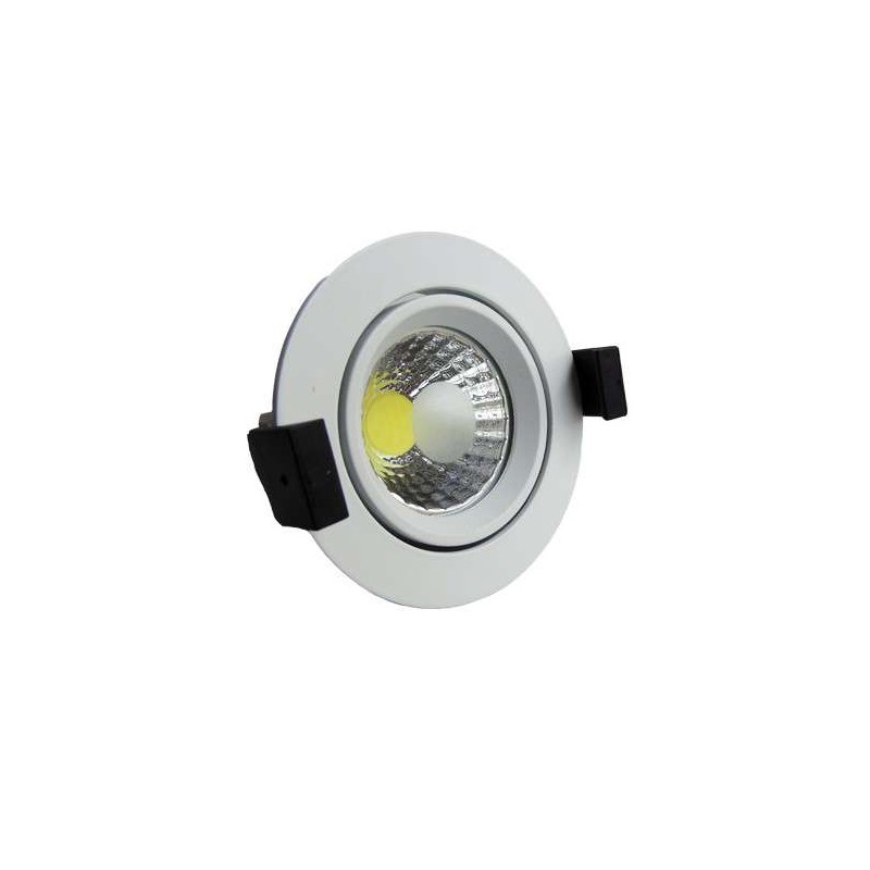 Downlight COB basculante Serie O 8w color blanco