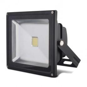 Foco reflector 30w SERIE BLACK color negro blanco frio