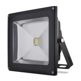 Foco reflector 50w SERIE BLACK color negro blanco frio