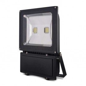 Foco reflector 100w SERIE BLACK color negro blanco frio