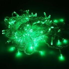 Guirnalda Navidad LED 10 metros 100 led color verde