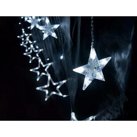 Decoración Navideña tipo ESTRELLAS 2 metros 20 estrellas luz blanca