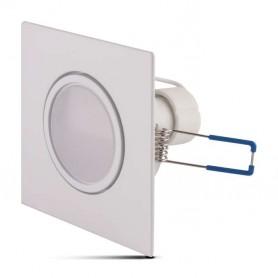 Aro basculante CUADRADO BLANCO con lampara GU10 5w LUZ BLANCA CALIDA