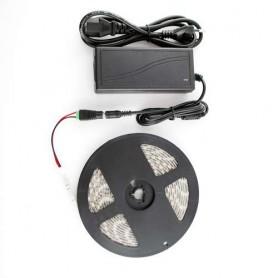 Kit completo tira de led de 5 metros tipo 5050 SMD 14,4w / m para exterior blanco frio