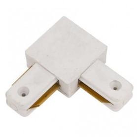 Conector de 90º para carril en color negro o blanco