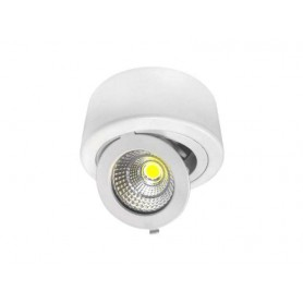 Downlight de superficie COB 12w ajustable basculante