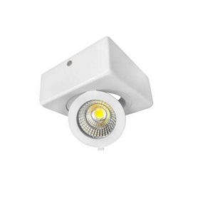 Downlight de superficie cuadrado COB 12w 45º ajustable basculante