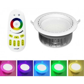 Downlight RGBW Serie Mi-Light 12w RGB-Blanco Frio 2.4G RF Wireless