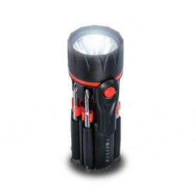Linterna LED MULTIFUNCIONAL con 8 destornilladores