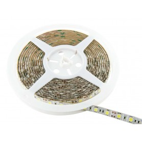Tira de led a 24 V flexible de 5 metros SMD 5050 60 led / m Blanco Neutro 4000 - 4500 K protección IP65