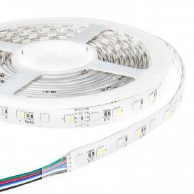 Tira de led flexible de 5 metros SMD 5050 60 led / m RGB - Blanco Frio Seleccionable sin protección al agua
