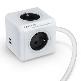 Power Cube con puertos USB y 1,5m de cable