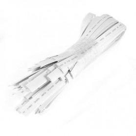 Funda termoretractil 4mm 1 metro para cableado colo blanca