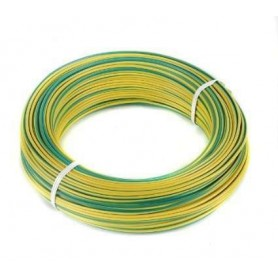 Cable unipolar 1.5mm color AMARILLO / VERDE (Tierra) por metro