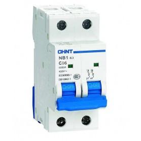 Interruptor automático de dos polos 16A, CHINT eBG-2-16C.